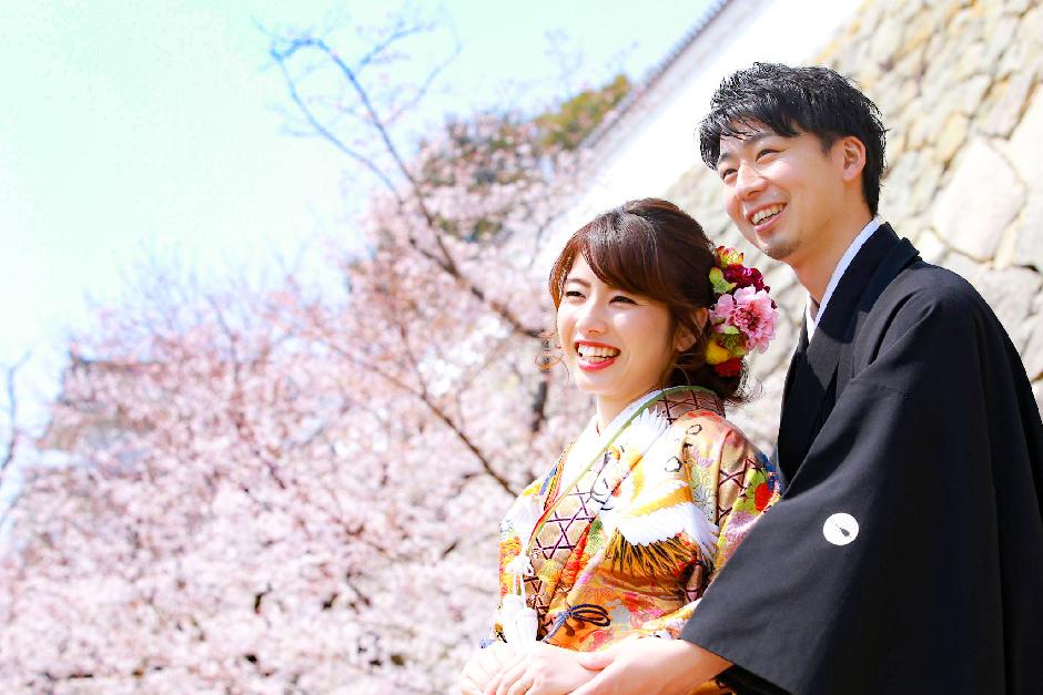 結婚写真の和装・洋装ロケーション撮影