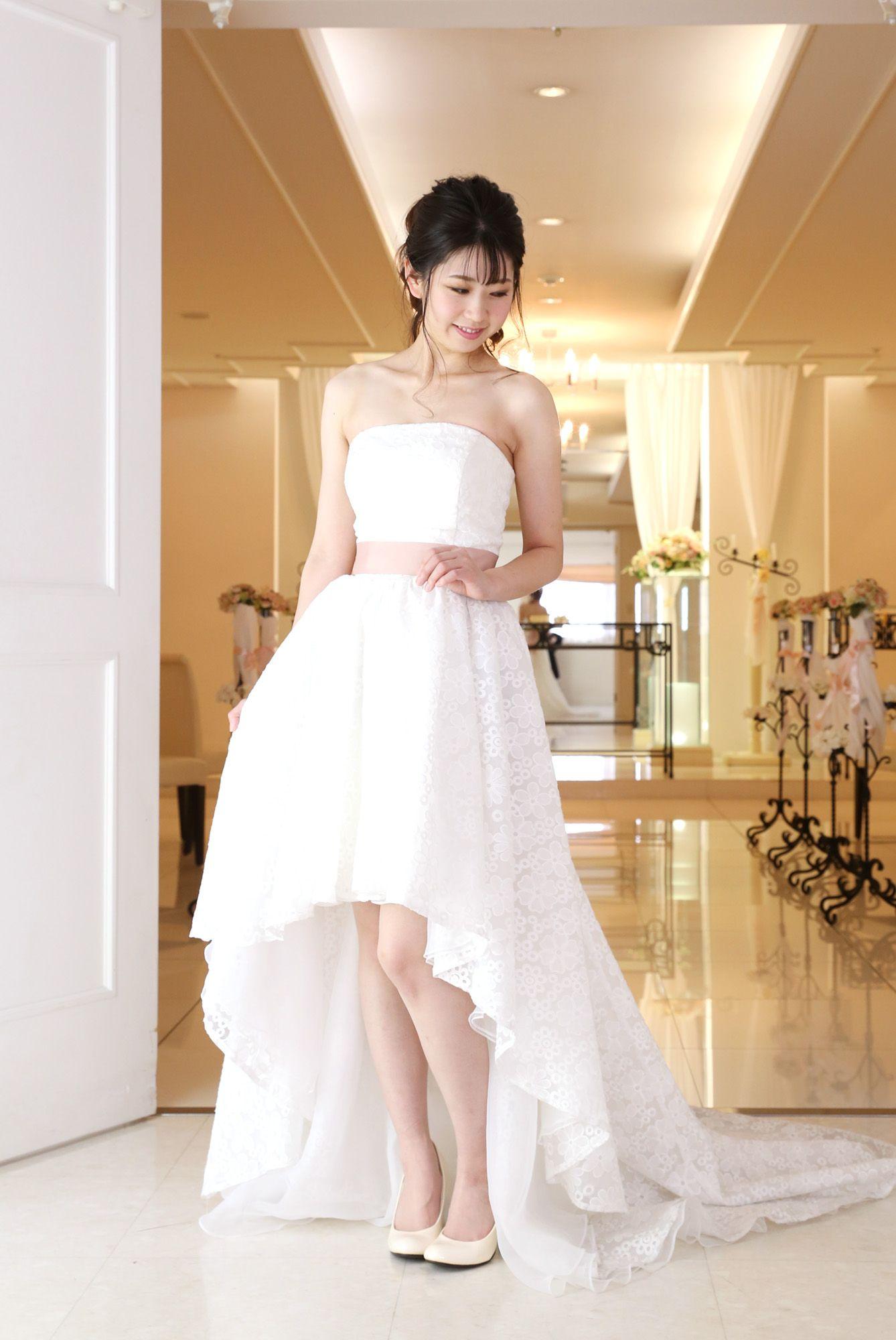 全店 白ドレス NEW!W-A-11F-1029_2wayドレス(ミニ丈)
